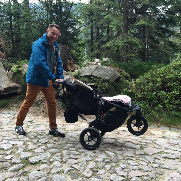 Baby Joger CIty Elite w drodze na Samotnie