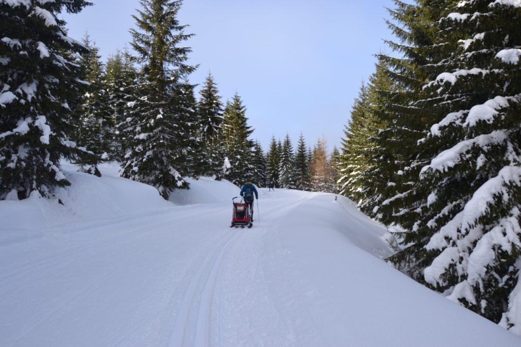 długi podbieg, narty biegowe