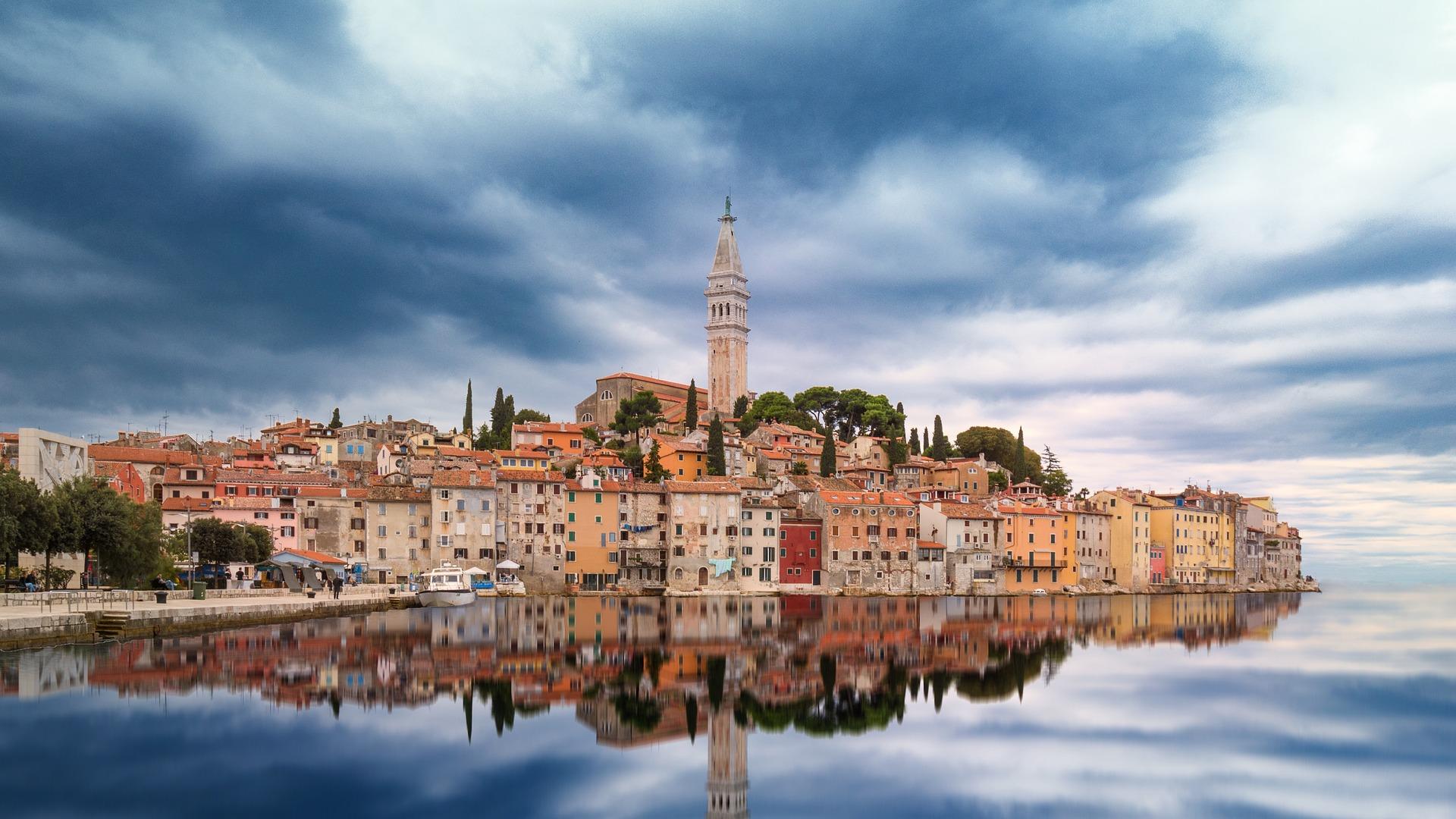 Chorwacja, Istria, Rovinj, widok z wody. Zbieraj się