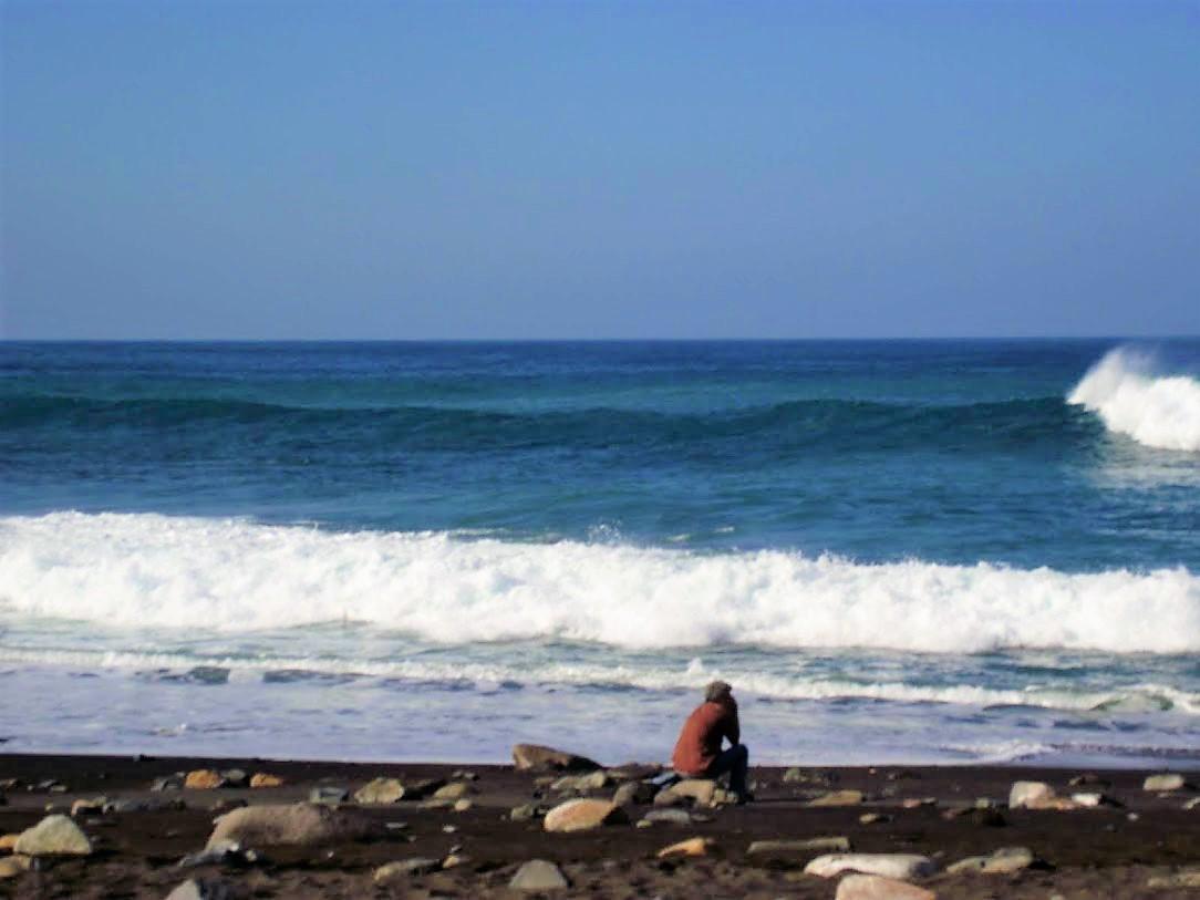Zbieraj się, Fuerteventura, stary człowiek imorze