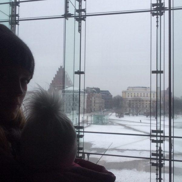 widok z okien Narodowego Forum Muzyki