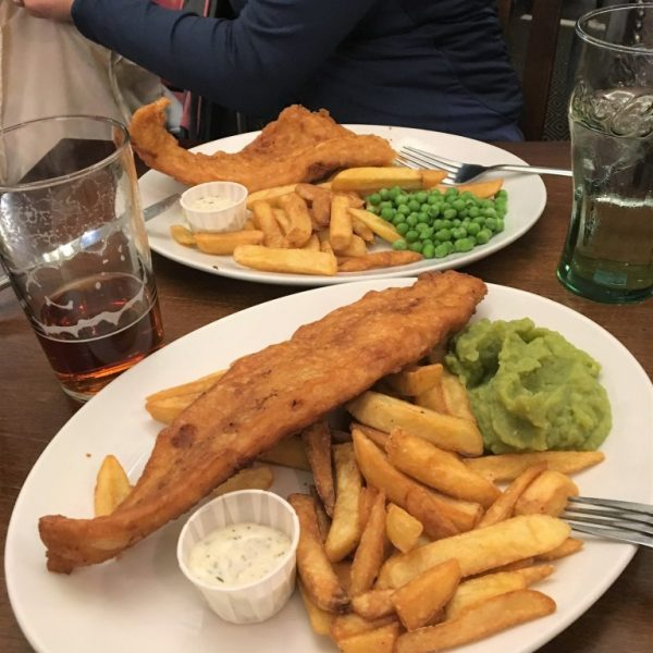 jedzenie wLondynie, fish&chips