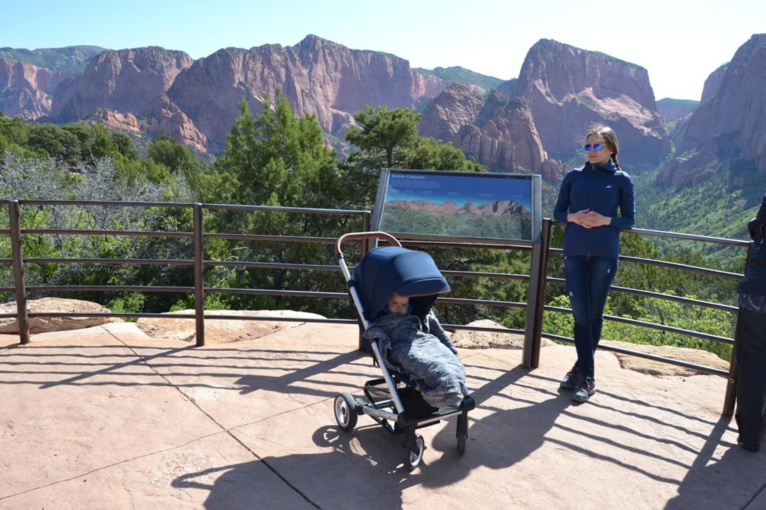 Kolob Canyon, zwiedzanie autem, Magda, Sara i góry