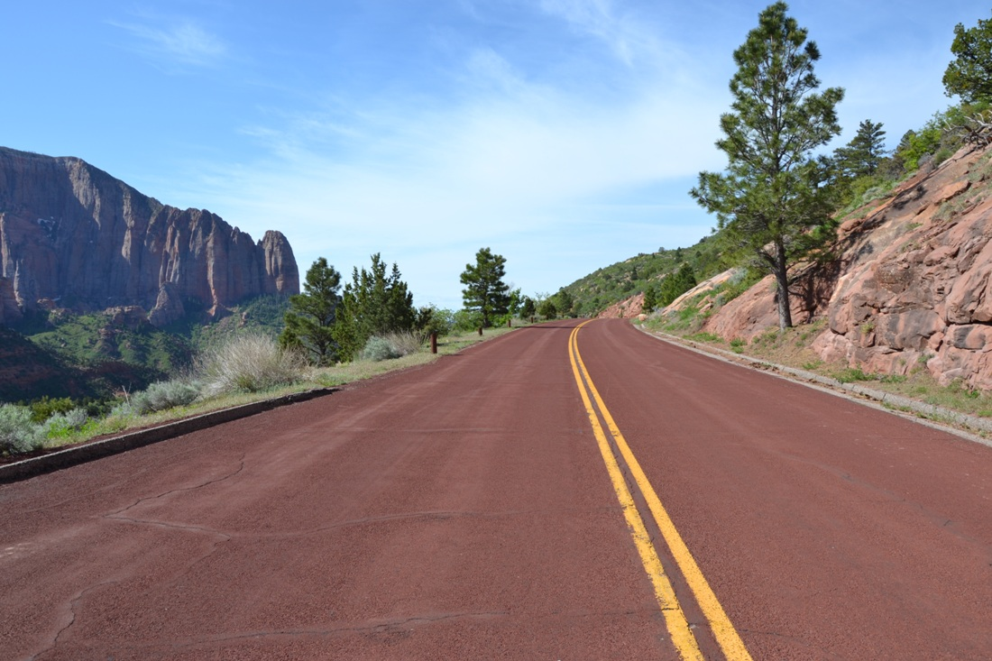 Kolob Canyon, zwiedzanie autem, asfalt, zbierajsie