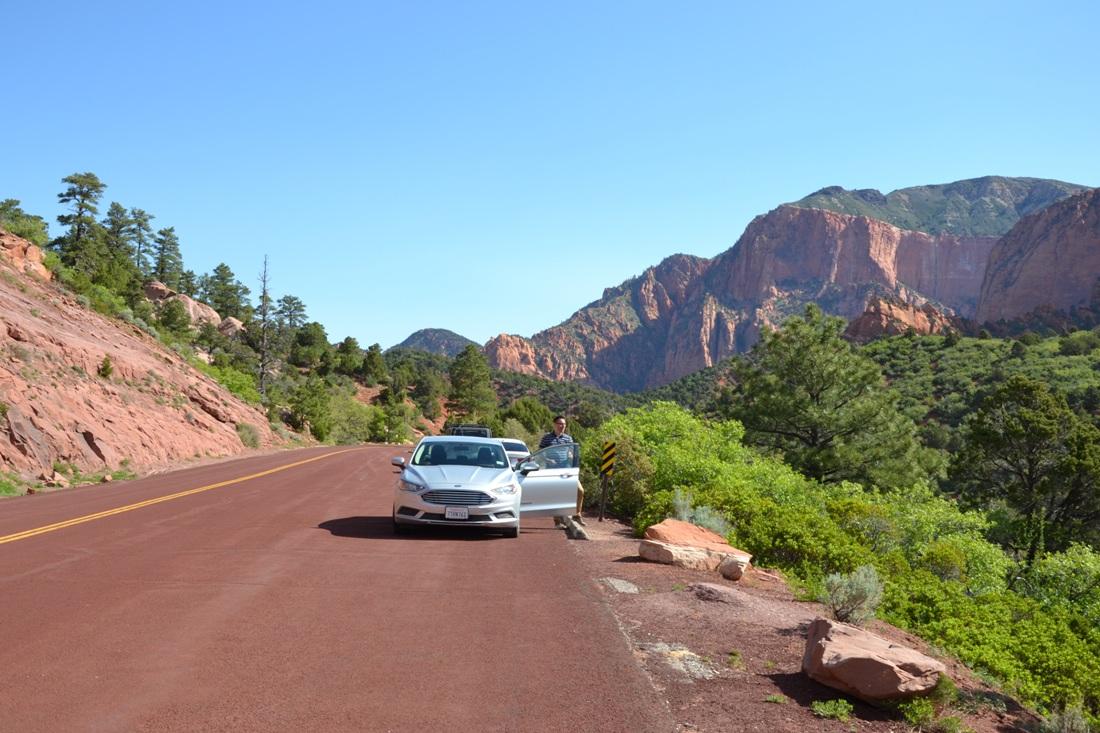 Kolob Canyon, zwiedzanie autem, zbierajsie