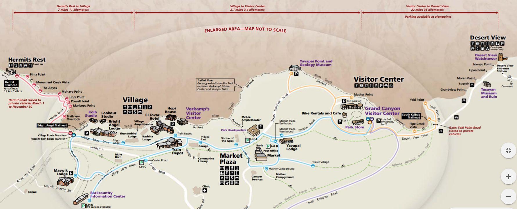 Wielki Kanion mapa