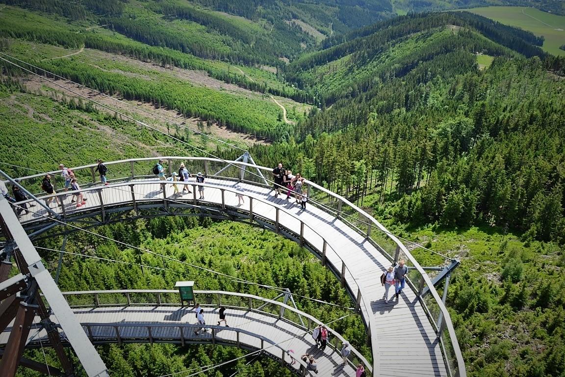 Spacer wchmurach, Ścieżka wchmurach, Sky walk Dolni Morava-zbierajsie (24)