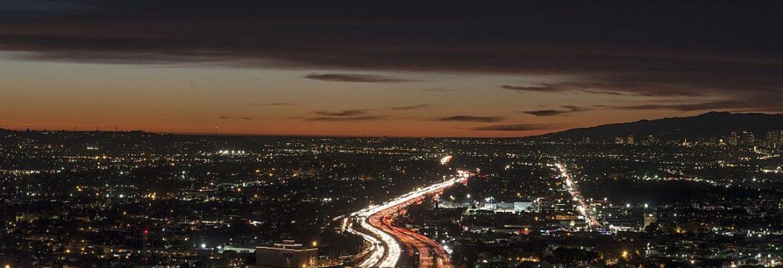 Los Angeles nocą, autostrada