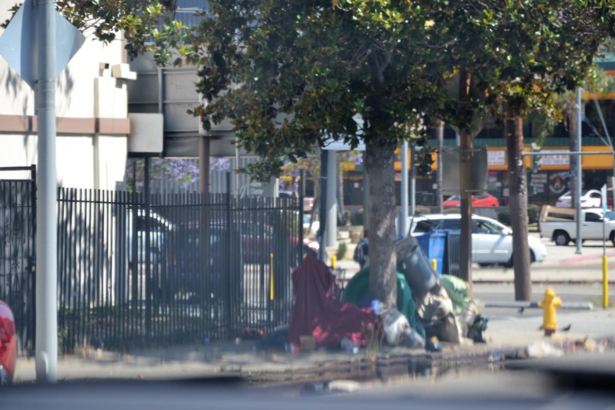 bezdomni w los angeles