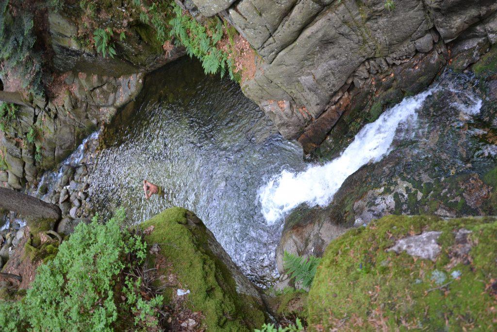 Wodospad Podgórnej widziany zgóry