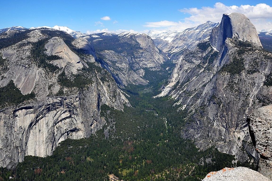Half Dome poprawej iWashington Column polewej, Yosemite, zbierajsie.pl-min