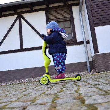 [TEST] Czywarto kupować jeździk/hulajnogę/rowerek biegowy jesienią izimą – nasze jesienne testy SCOOTANDRIDE Highwaykick 2w1