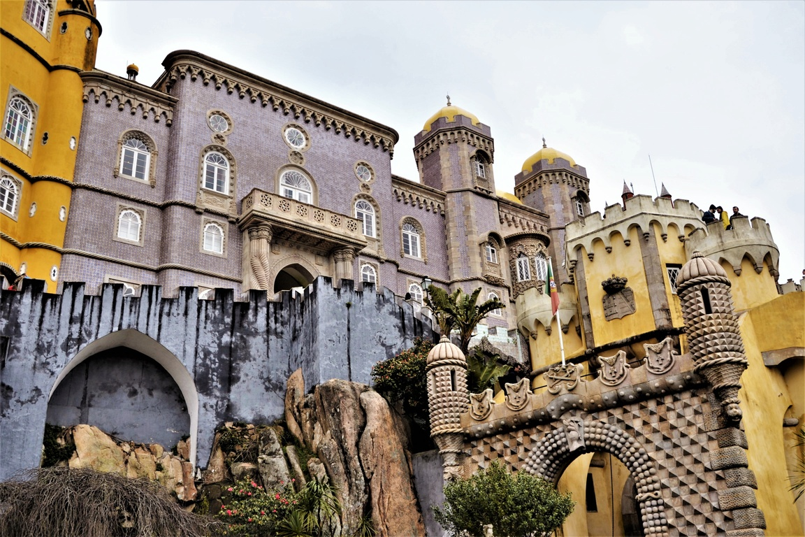 Portugalia, Sintra, Pałac Pena, zbierajsie (1)