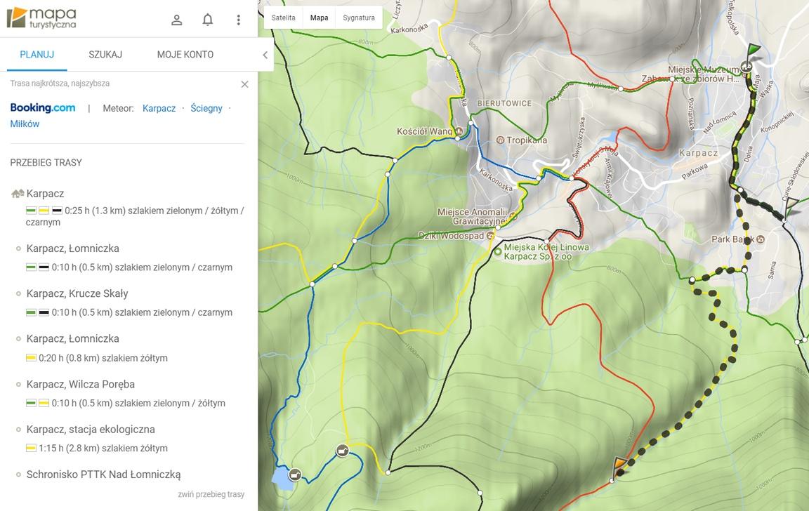 mapa-turystyczna Karpacz_Schronnisko_pod_Łomniczką
