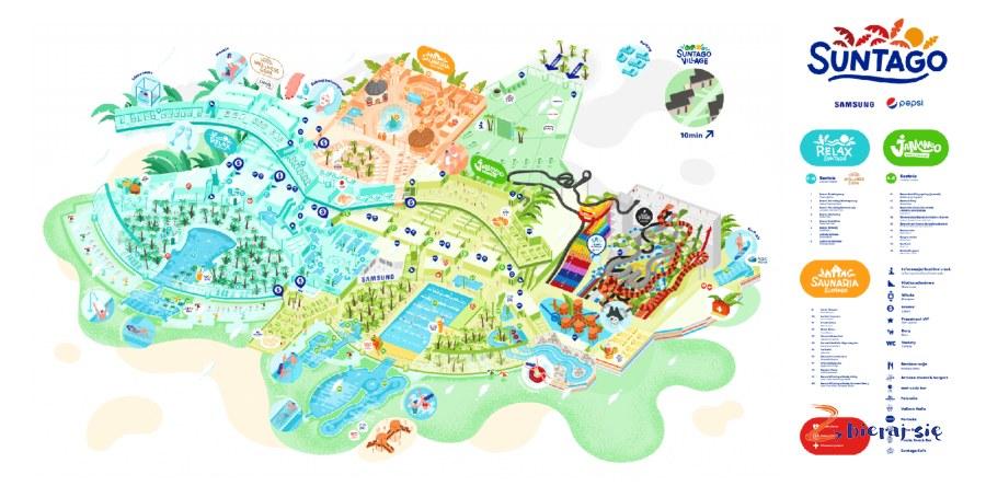 mapa_ Park Wodny Suntago _ największy aquapark wPolsce