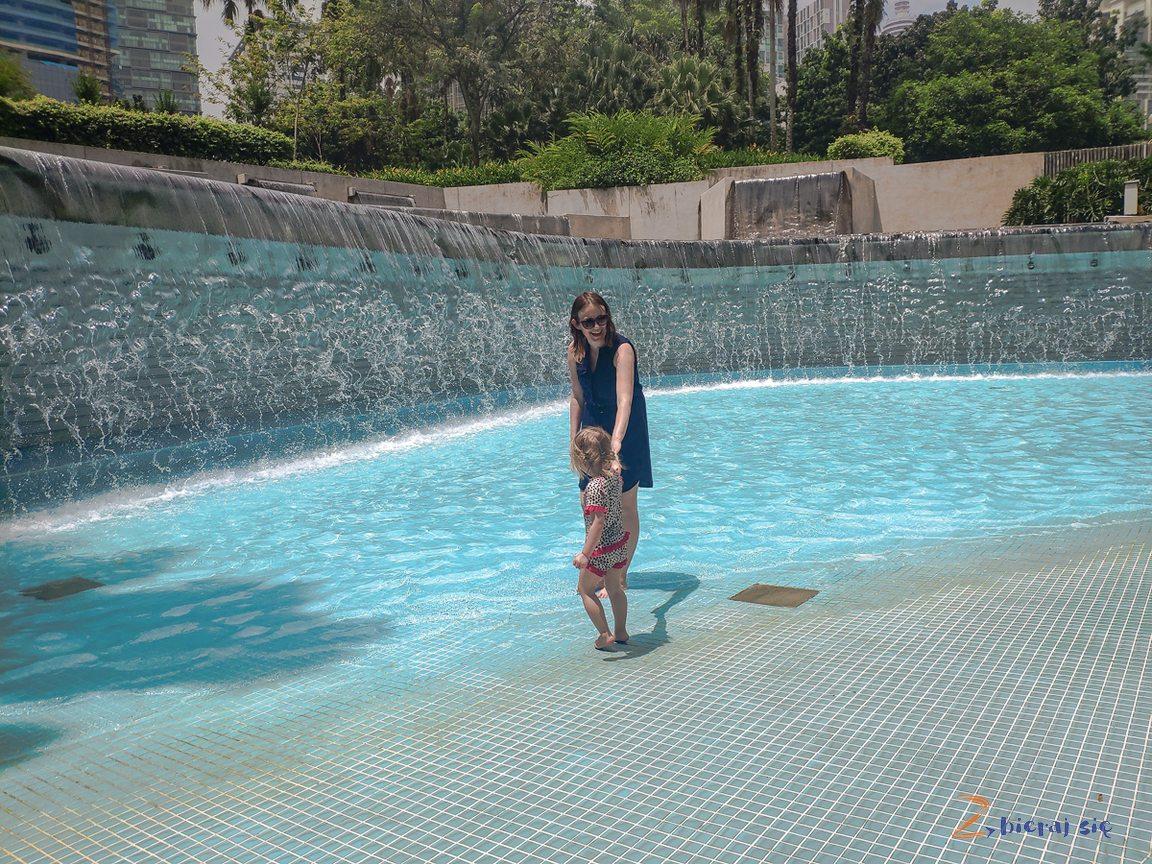 Kuala Lumpur zdziećmi atrakcje wodne wmieście