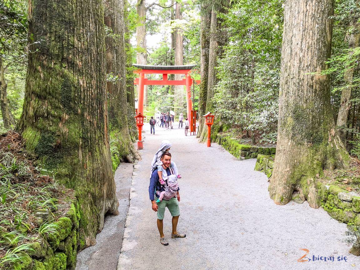 Motohakone-ko świątyni Hakone Kuzuryu Jinja wHakone