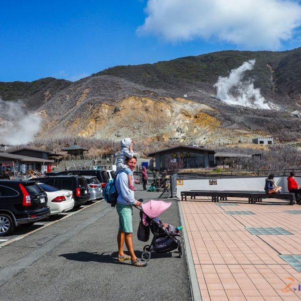 zapach isiarka wOwakudani region Hakone wJaponii