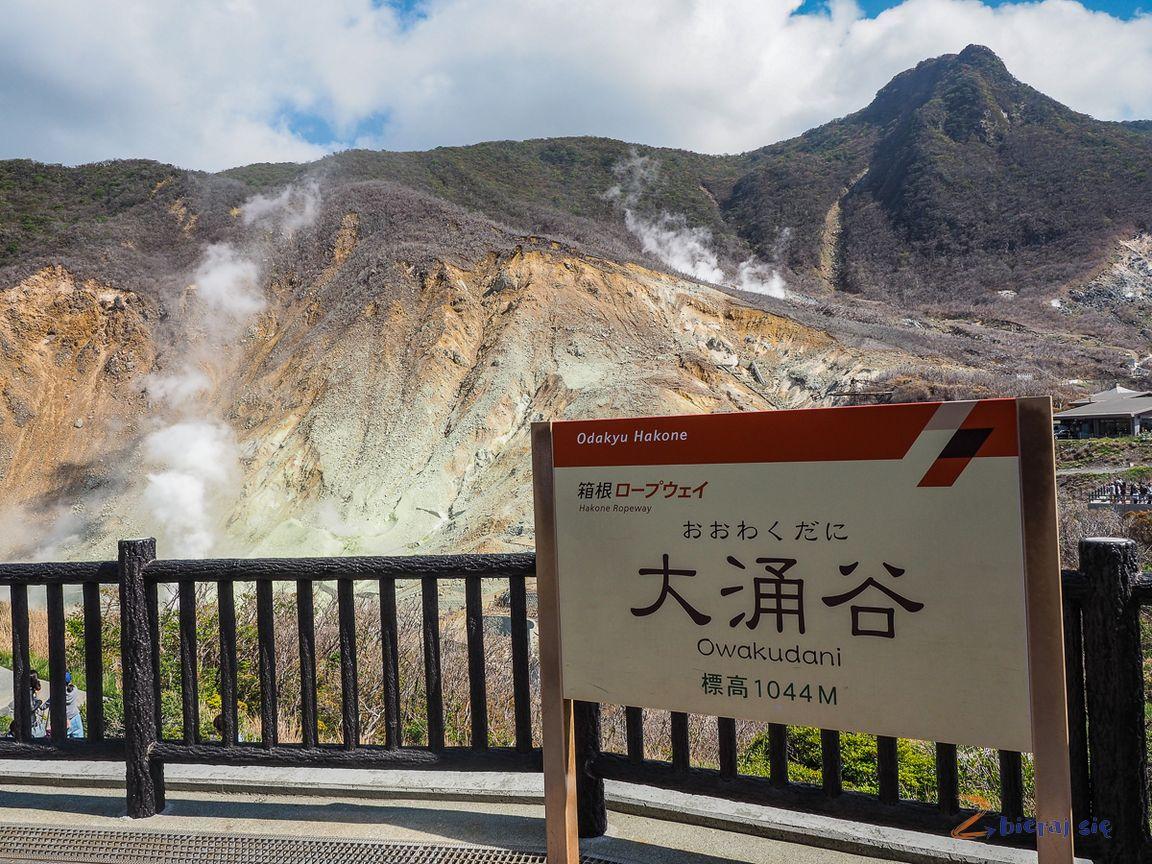 Owakudani region Hakone wJaponii
