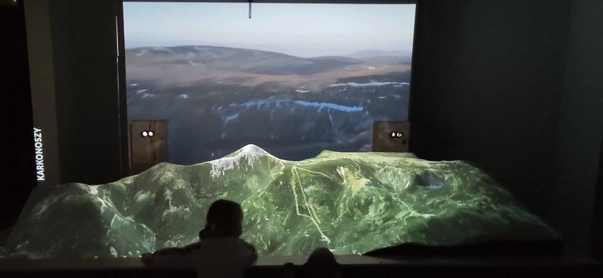 makieta Karkonoszy w Multimedialne Muzeum Karkonoszy w Karpaczu