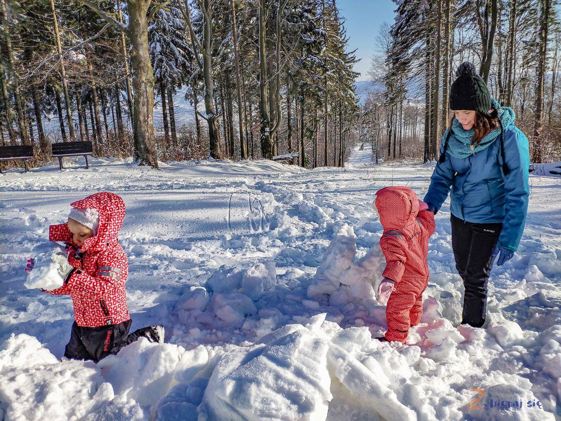 nie tylkosanki naDolnym Śląsku zimą _ budujemy Igloo nadzikowcu