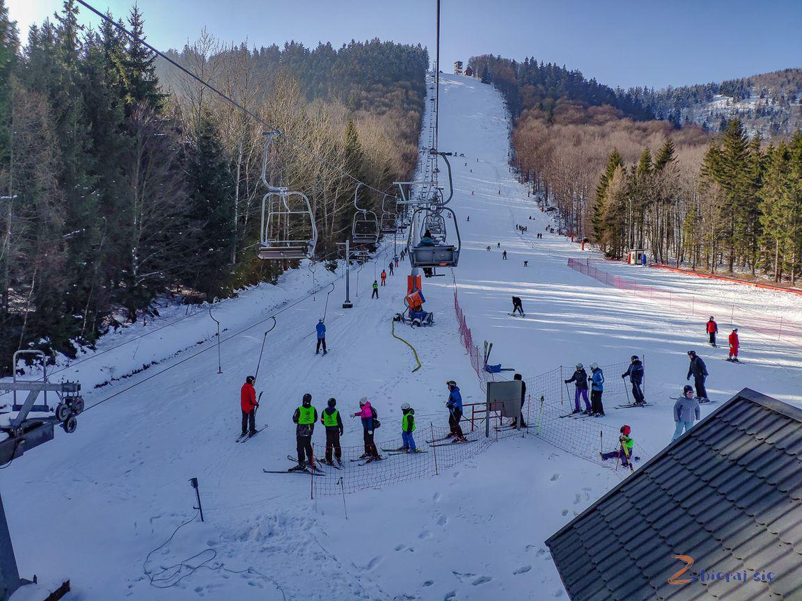 szkółka narciarska naDzikowcu _ nietylkosanki naDolnym Śląsku zimą