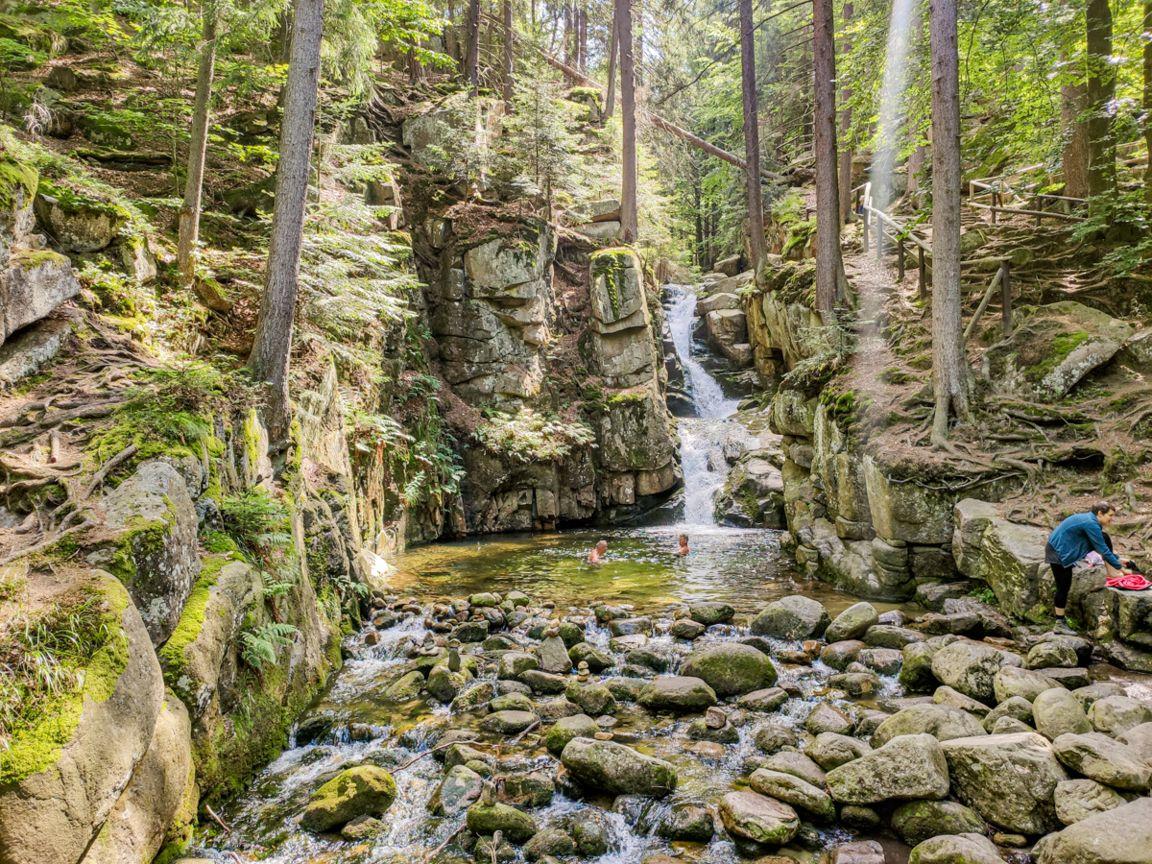 Wodospad Podgórnej wPrzesiece
