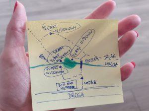 Mapa punktów widokowych Wodospad Wilczki