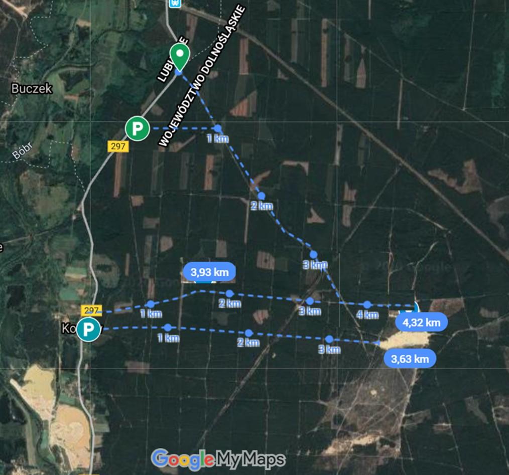 Pustynia Kozłowska jak dojść, trasa, miejsca parkingu