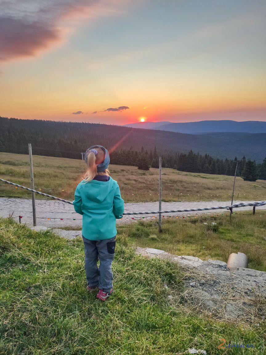 zachód słońca naHali Szrenickiej