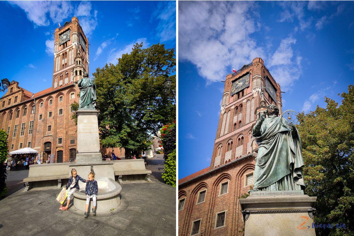 Toruń zdziećmi - pomnik Mikołaja Kopernika