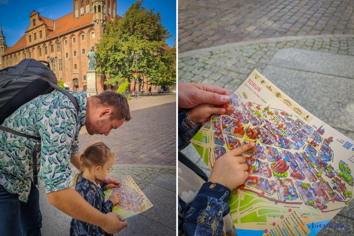 Toruń zdziećmi - mapa Torunia