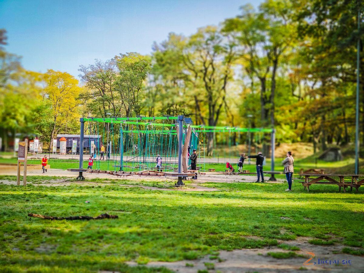 Parki wLubinie: Park leśny wLubinie plac zabaw