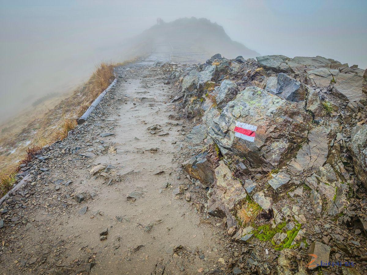 czerwony szlak, okolice Kasprowego Wierchu wemgle