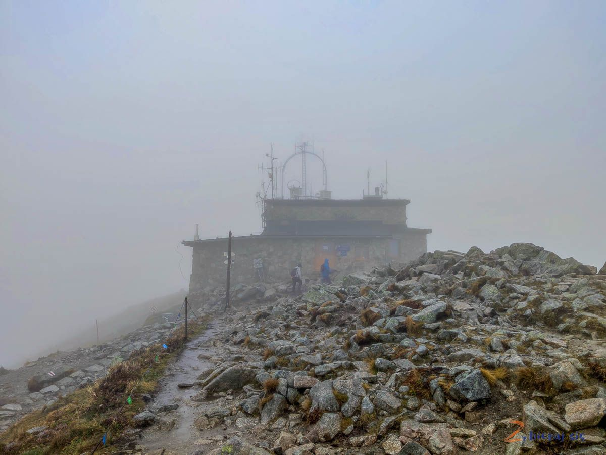 obserwatorium meteorologiczne naszczycie Kasprowego Wierchu