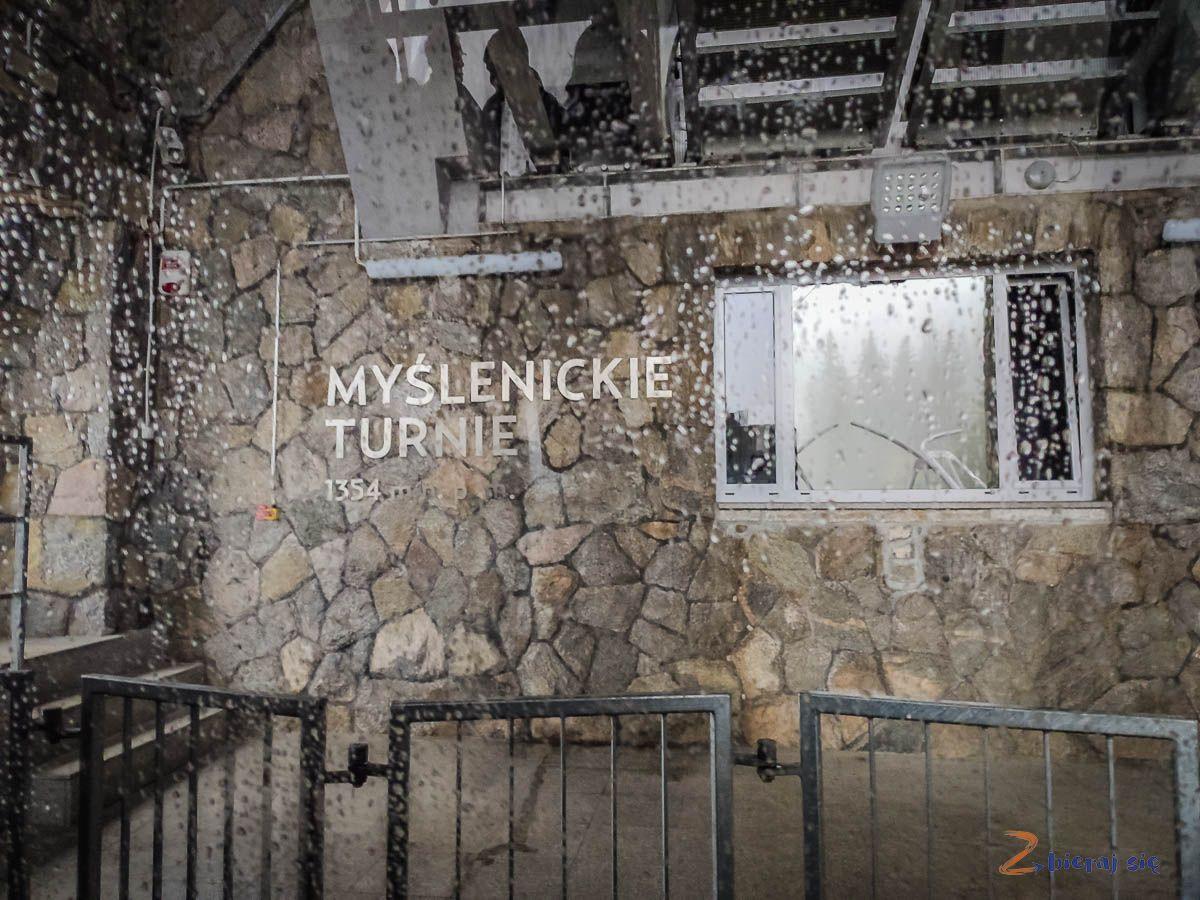 kolej linowa naKasprowy Wiech, stacja przesiadkowa Myślenickie Turnie