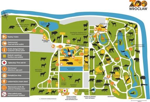 mapa ZOO Wrocław - czywarto odwiedzić zoo wrocław zimą