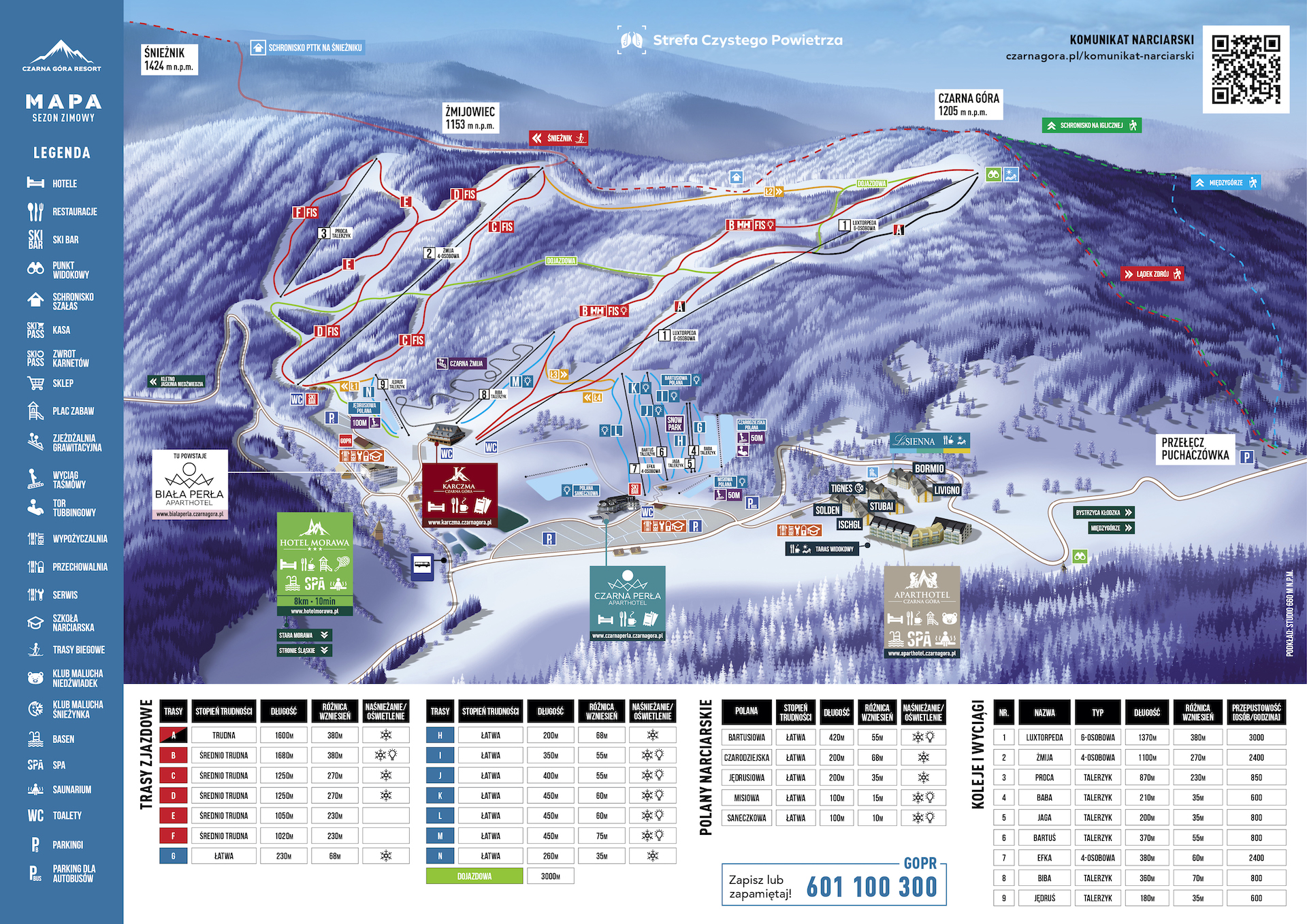 Resort Czarna Góra mapa