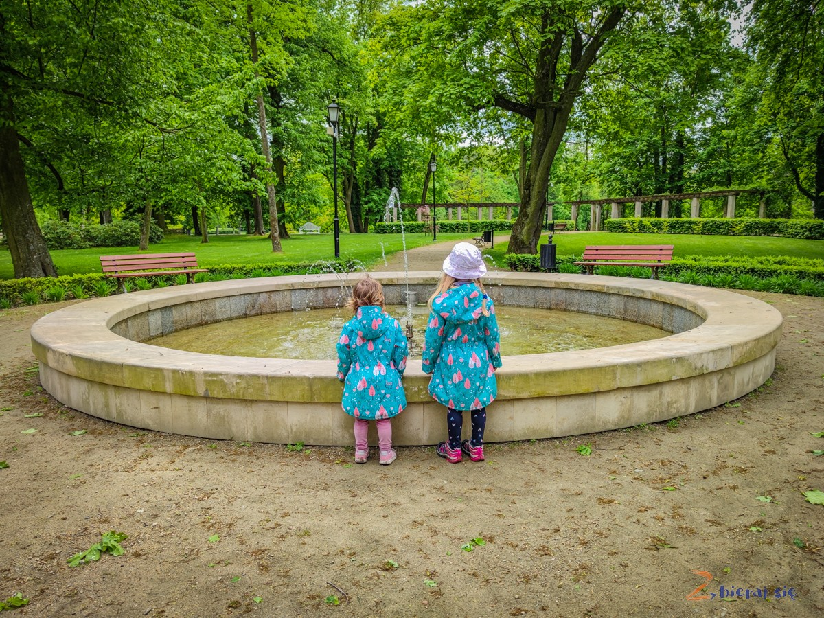 fontanna wParku Miejskim wSycowie