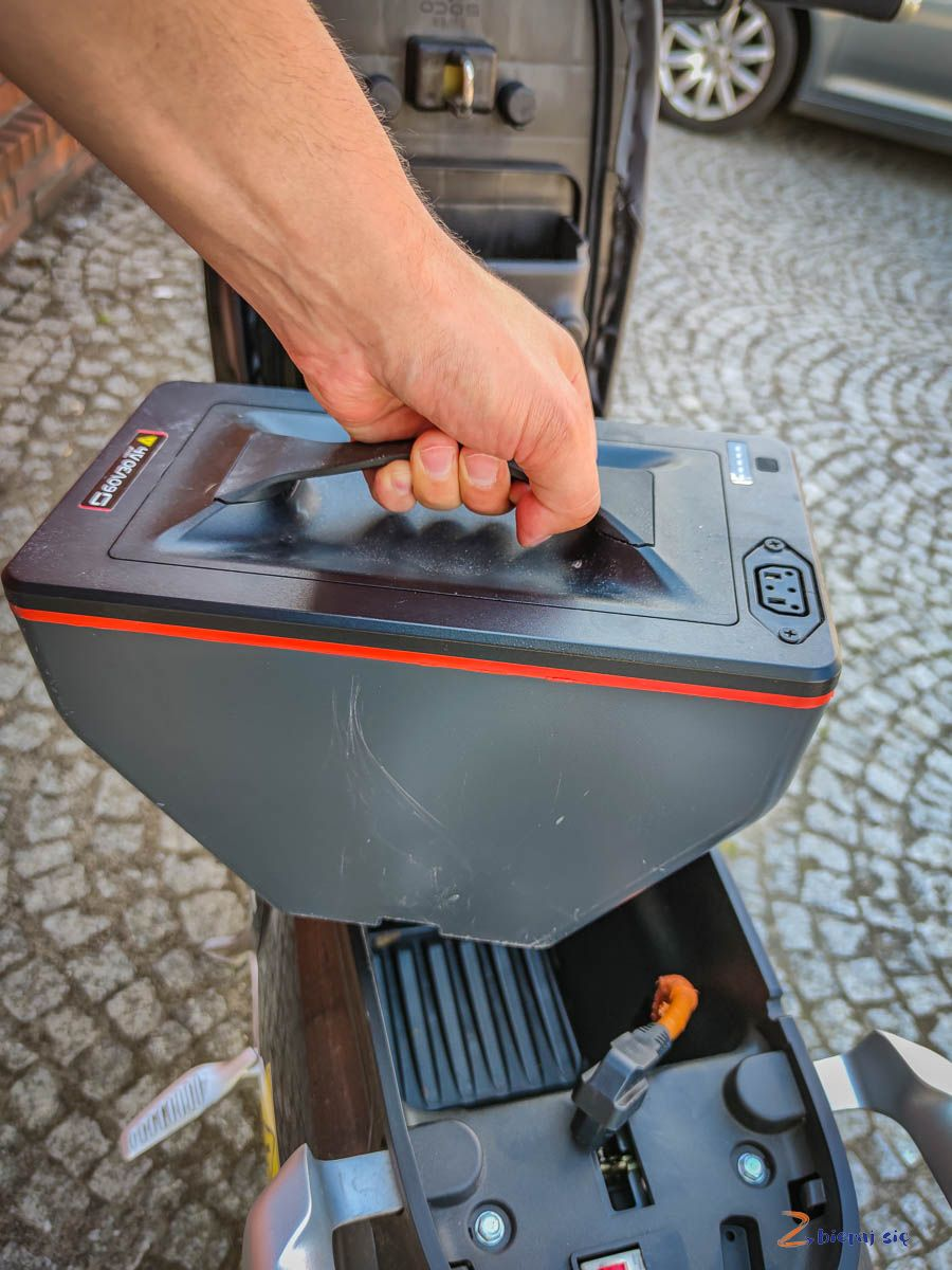 Akumulator wskuterze elektrycznym Super Soco