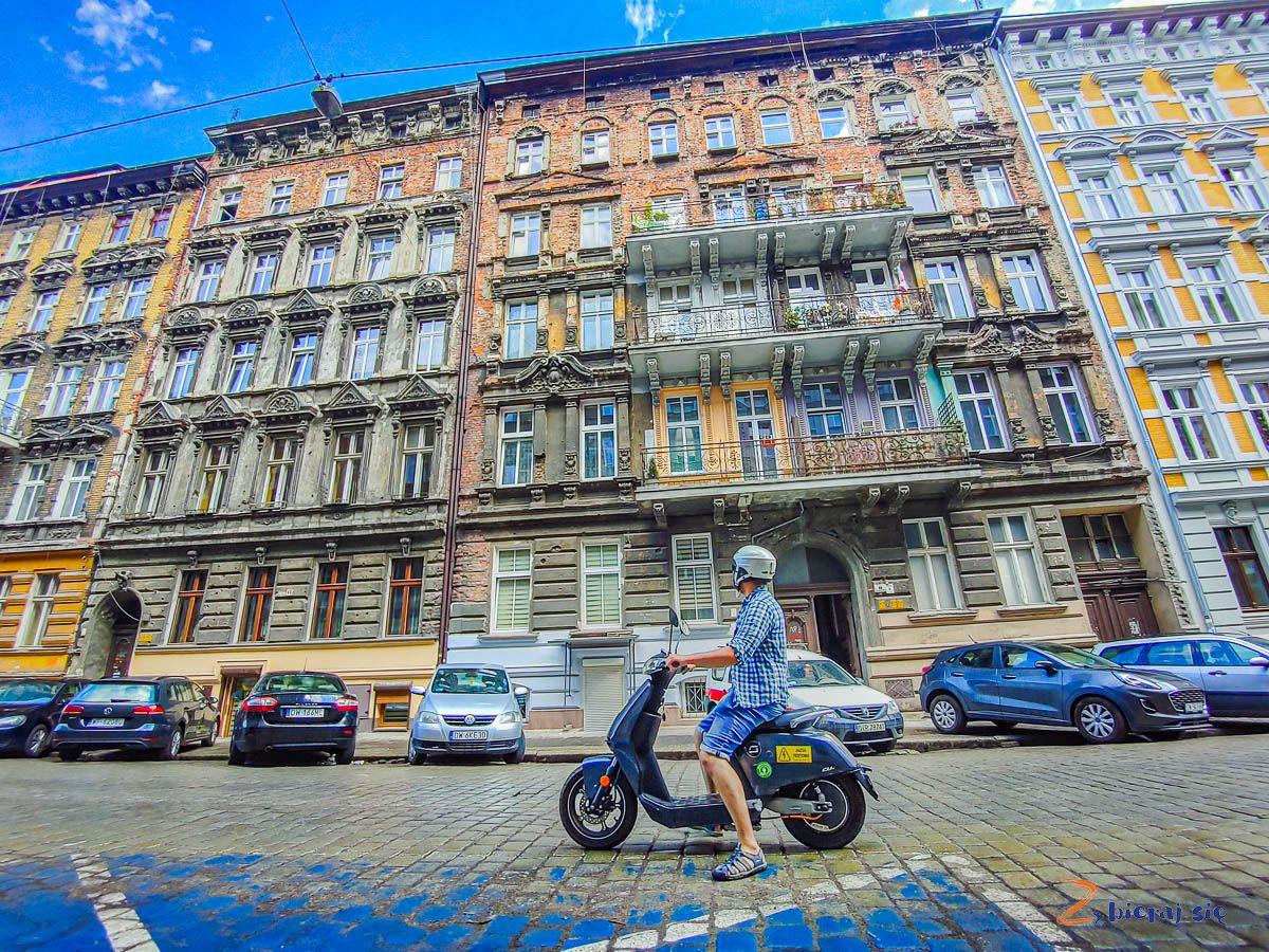 Skuter elektryczny Super Soco weWrocławiu (Przedmieście Oławskie)